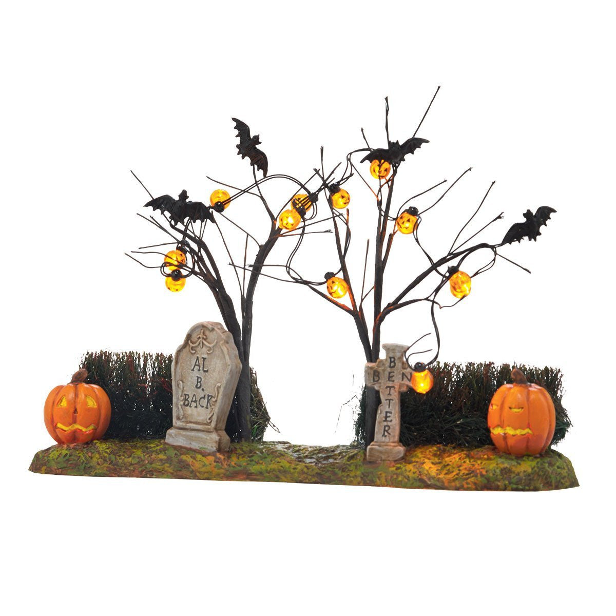Haunted Light Up Cemetery with Jack-O-Lanterns - Halloween Accessories