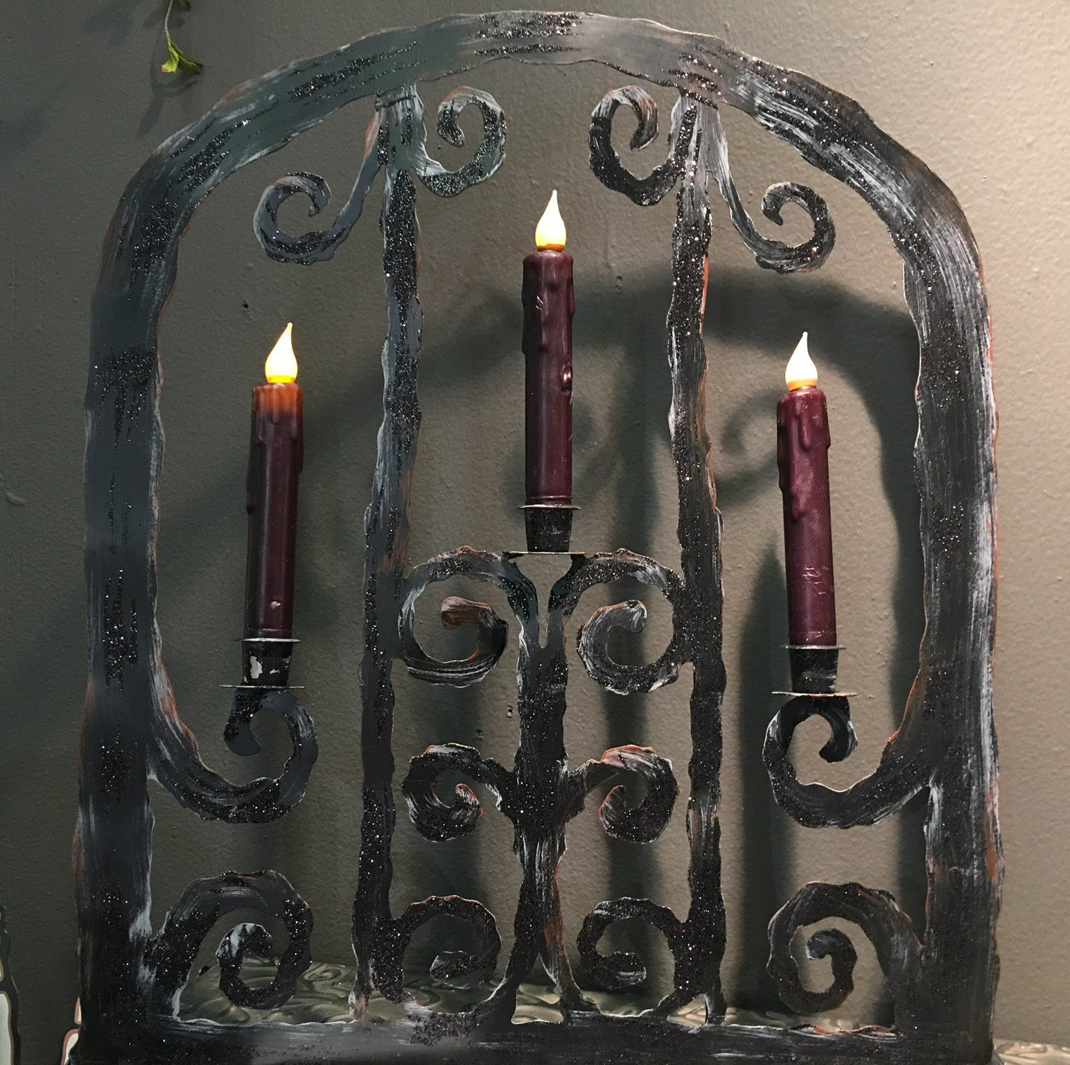 Haunted Halloween Gate Candelabra