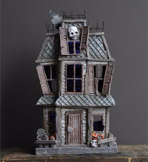 Old Haunted House - Tabletop Halloween Decorations