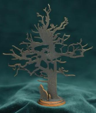 Haunted Tree Silhouette - Wooden Tabletop Halloween Decorations