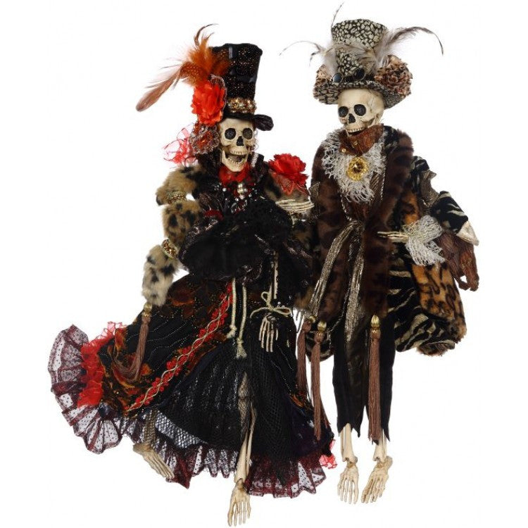 Haute Couture Skeleton Couple - Mark Roberts Halloween