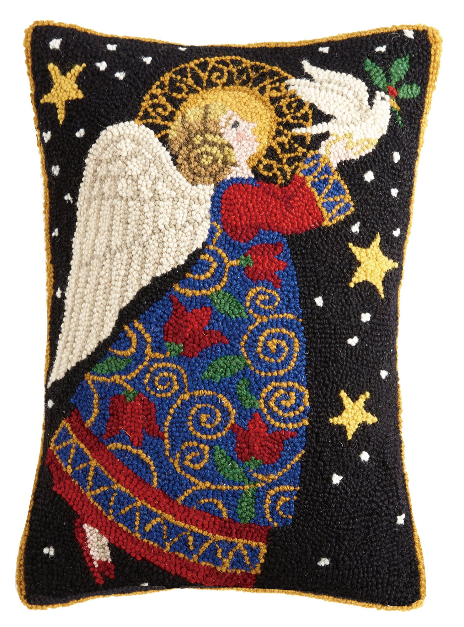 Heavenly Angel Hooked Pillow