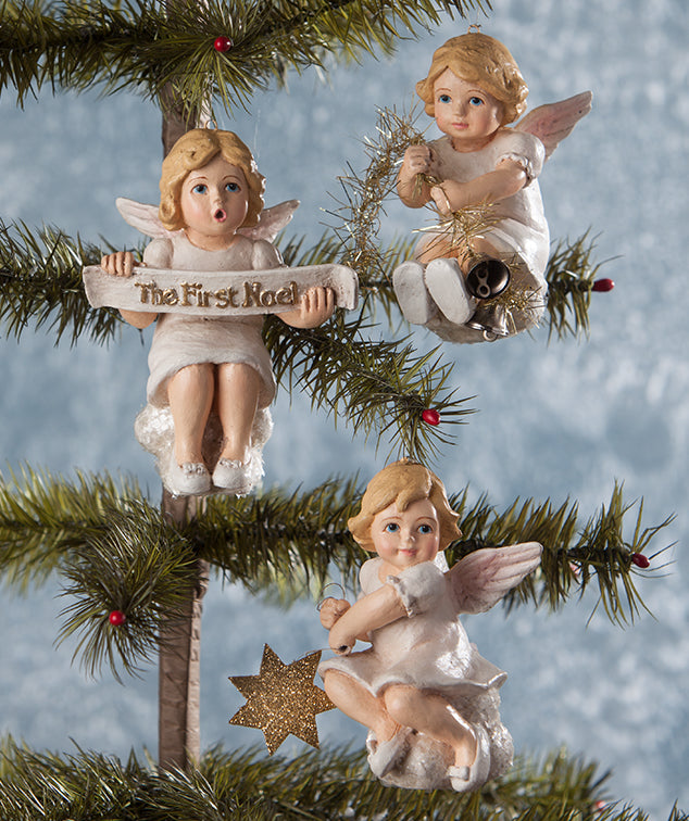 Heavenly Cherub Angel Ornaments - Baby's First Christmas Angels