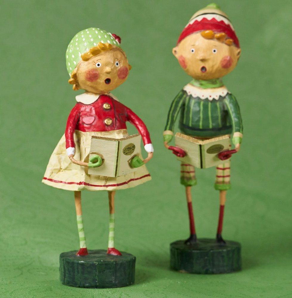 Lori Mitchell Henry and Holly Come Caroling Figurines