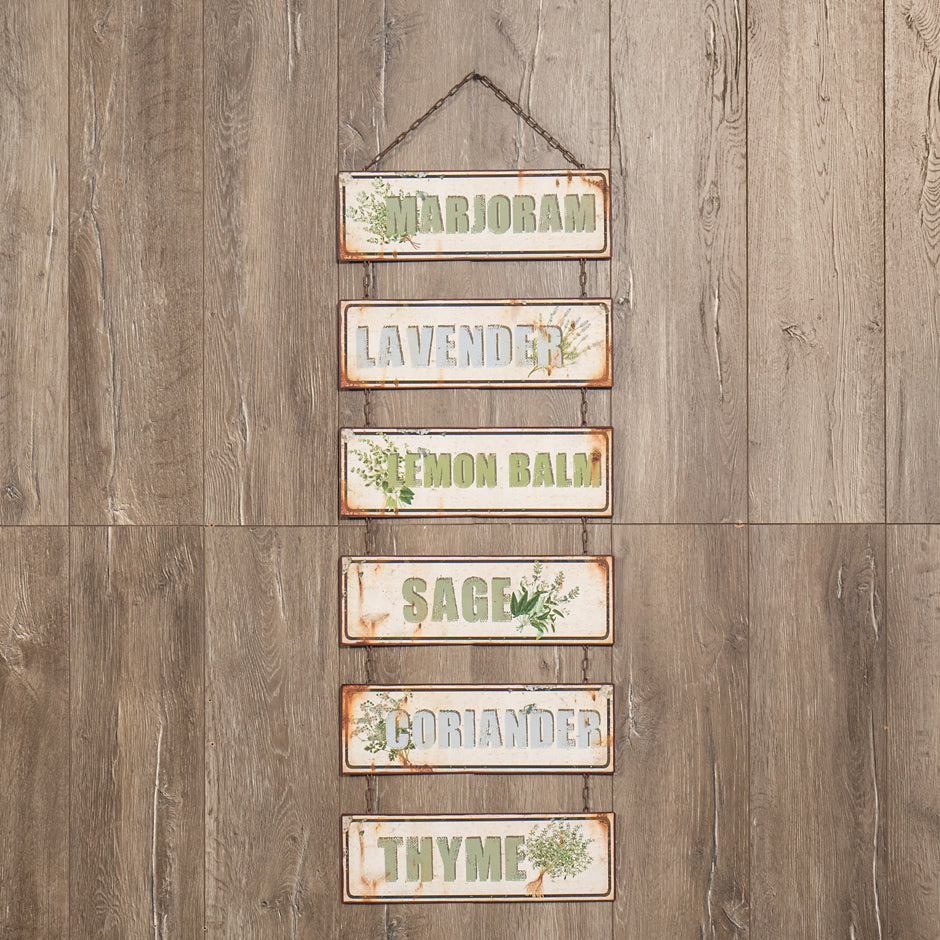 Hanging Herb Sign