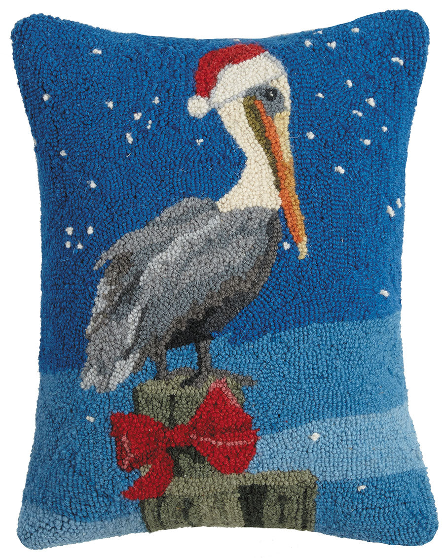 Holiday Pelican Bay Hooked Pillow