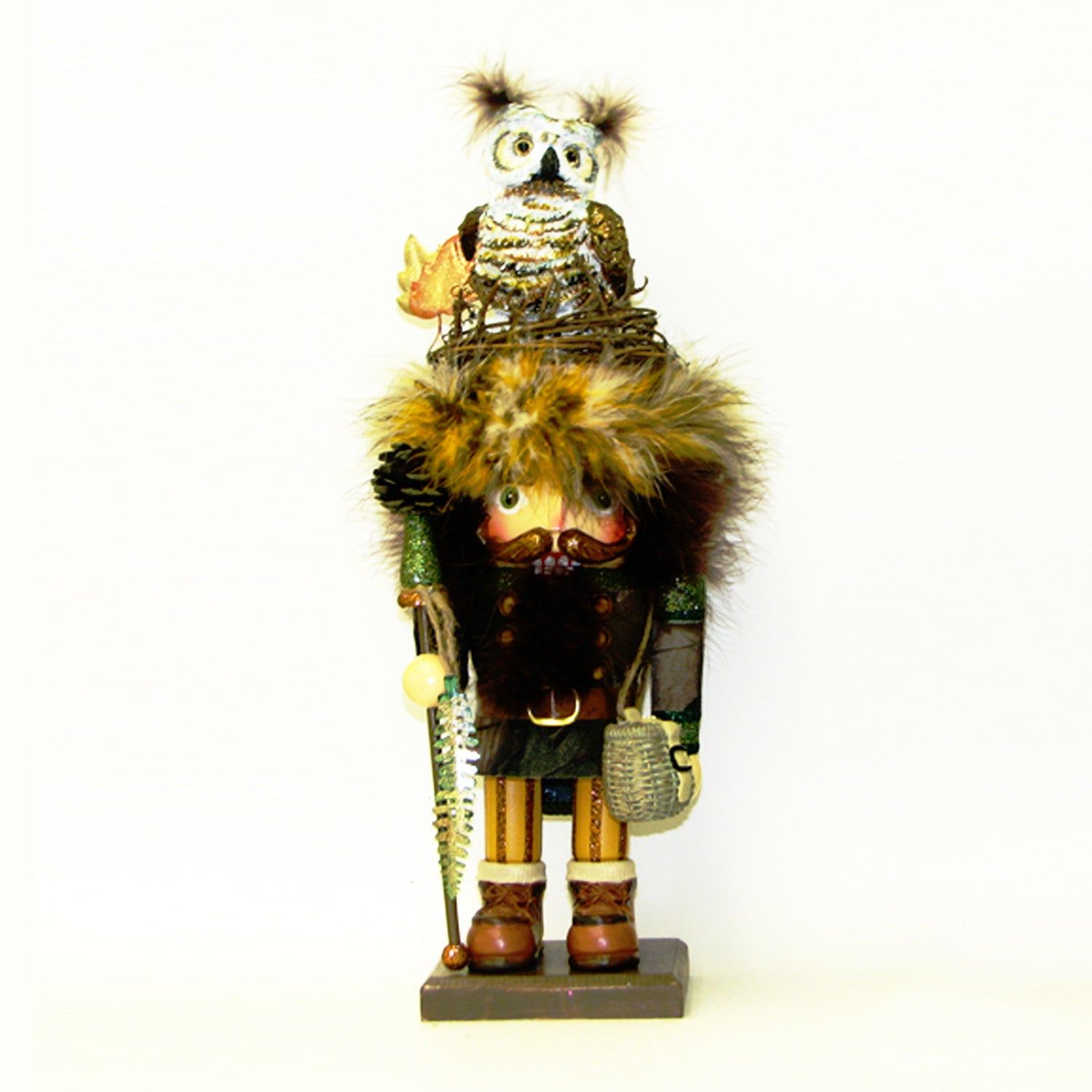 Hollywood Owl Hat Woodsman Nutcracker