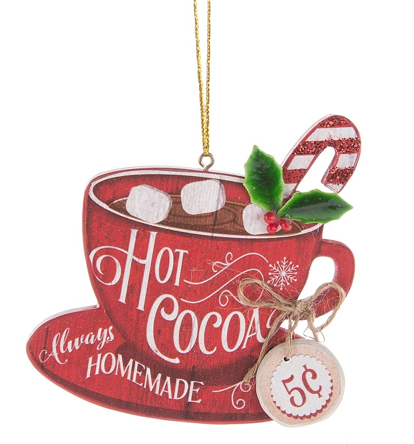 Hot Cocoa Ornament - Always Homemade 5 Cents