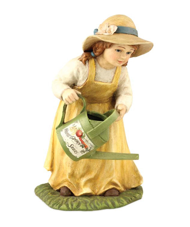 How Does Your garden Grow, Mary | Girl with Watering Can Figurine