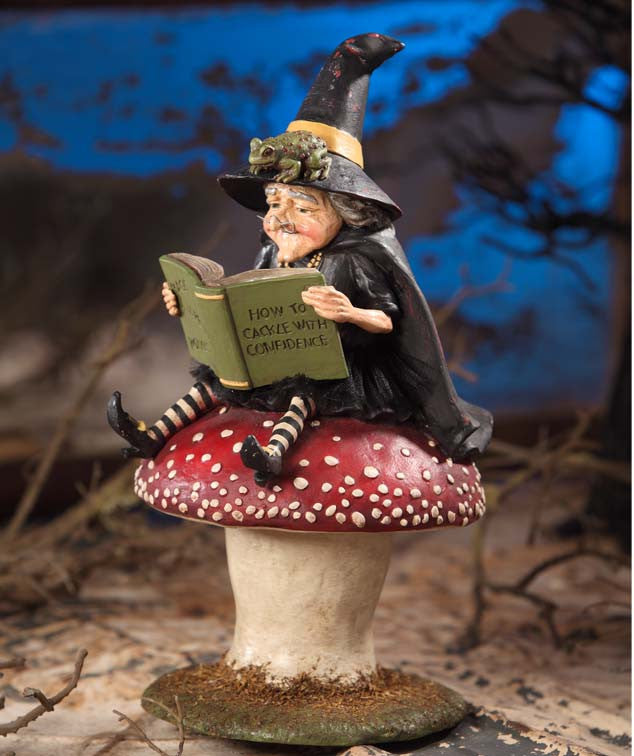 How to Cackle with Confidence Witch on Toadstool by Bethany Lowe