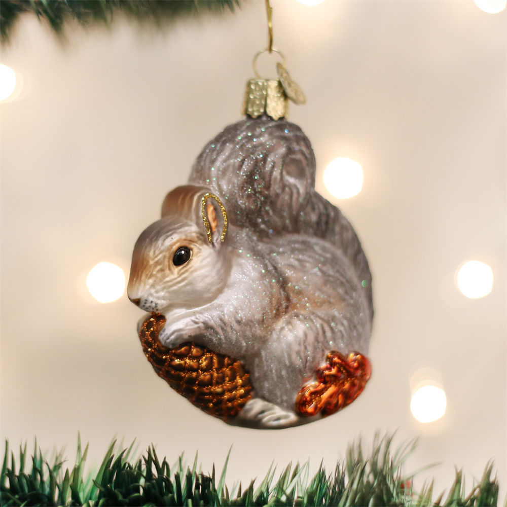 Old World Christmas Hungry Squirrel Glass Ornaments