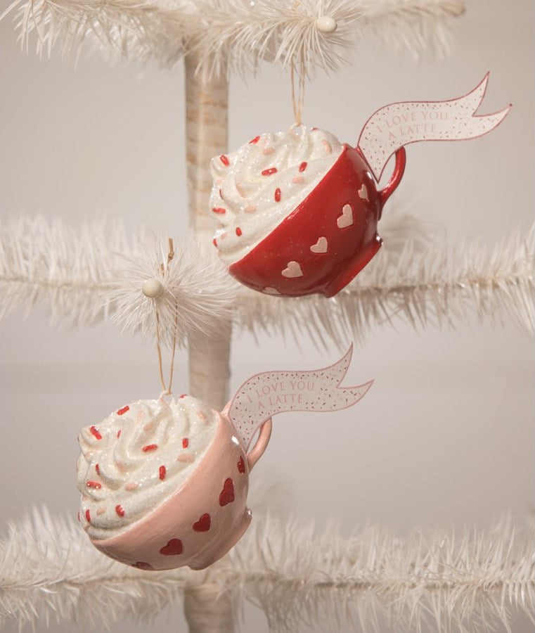 I Love You a Latte Ornaments