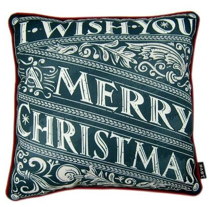 I Wish You A Merry Christmas Chalkboard Pillow