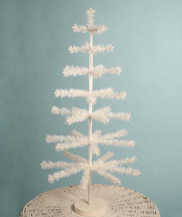 "36"" Ivory Feather Tree"