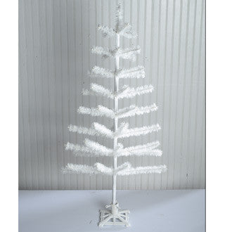 Ivory Feather Tree 48""