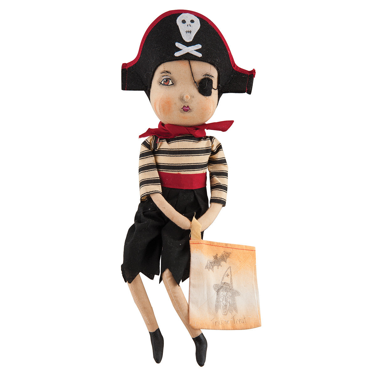 Joe Spencer Jagger Pirate  - Cloth Halloween Doll
