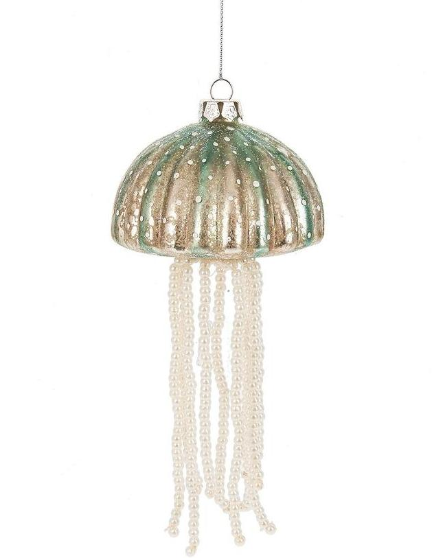 Jelly Fish Ornaments - Coastal Christmas Decorations