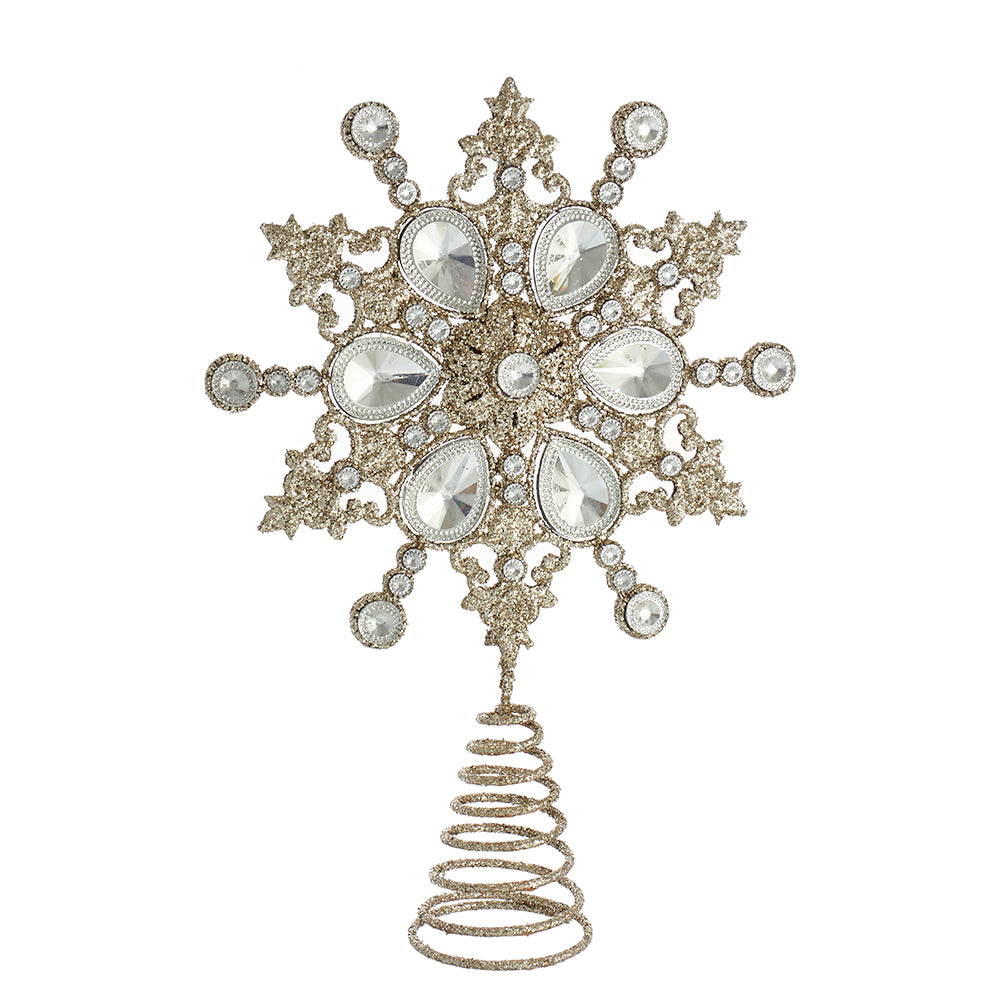 Jeweled Snowflake Christmas Tree Topper