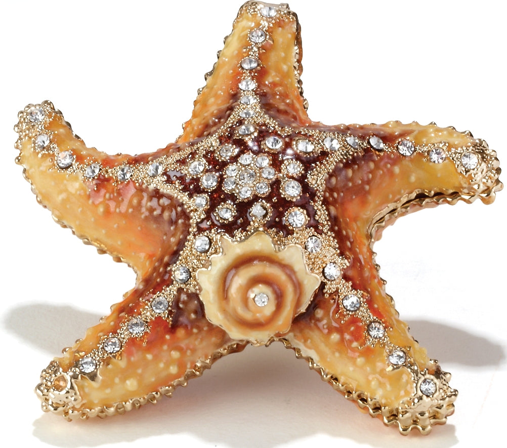 Jeweled Starfish Trinket Box