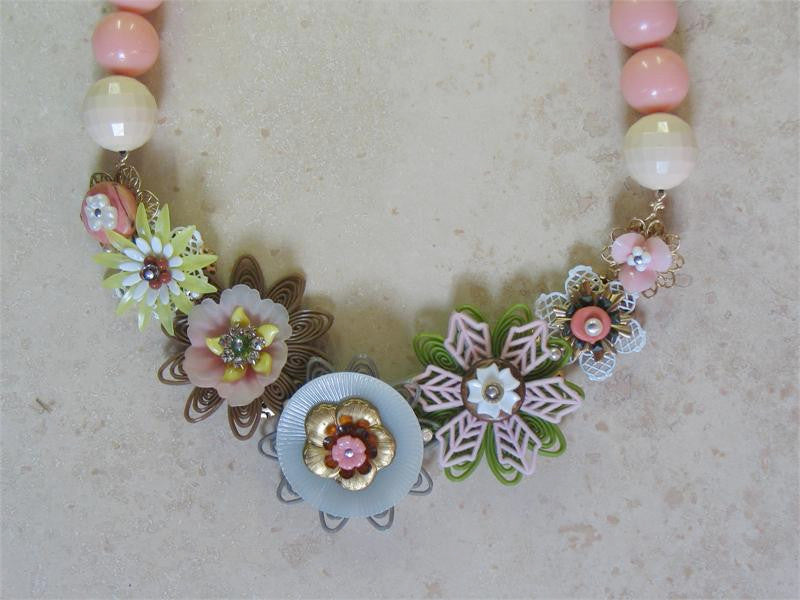 Pink Garland Necklace