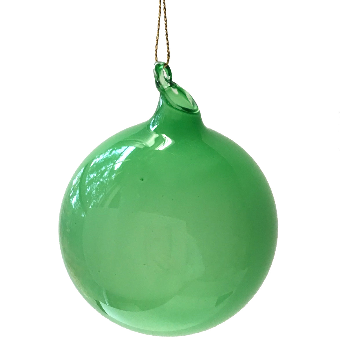 Jim Marvin Green Bubblegum Glass Ornaments