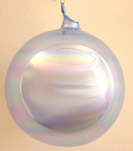 Jim Marvin Periwinkle Ivory Pearl Glass Ball Ornaments