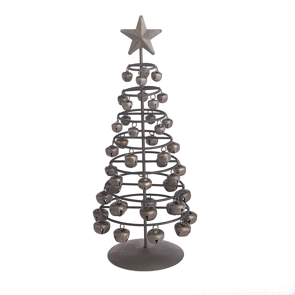 Jingle Bell Christmas Tree - Metal Tree Made from Jingle Bells