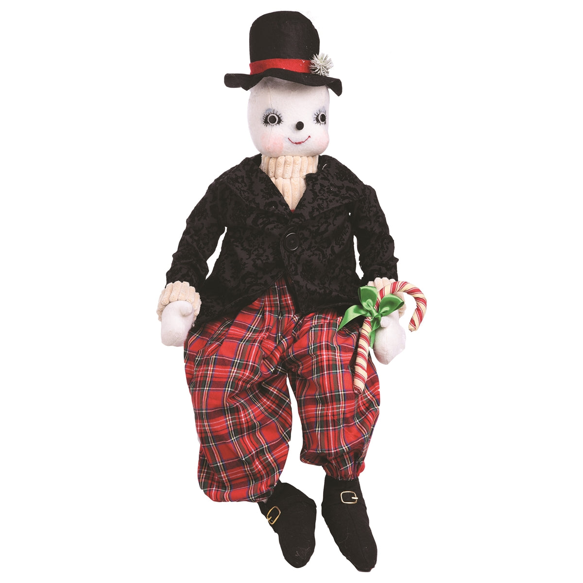 Joe Spencer Byron Snowman in Top Hat - Cloth Snowmen Dolls