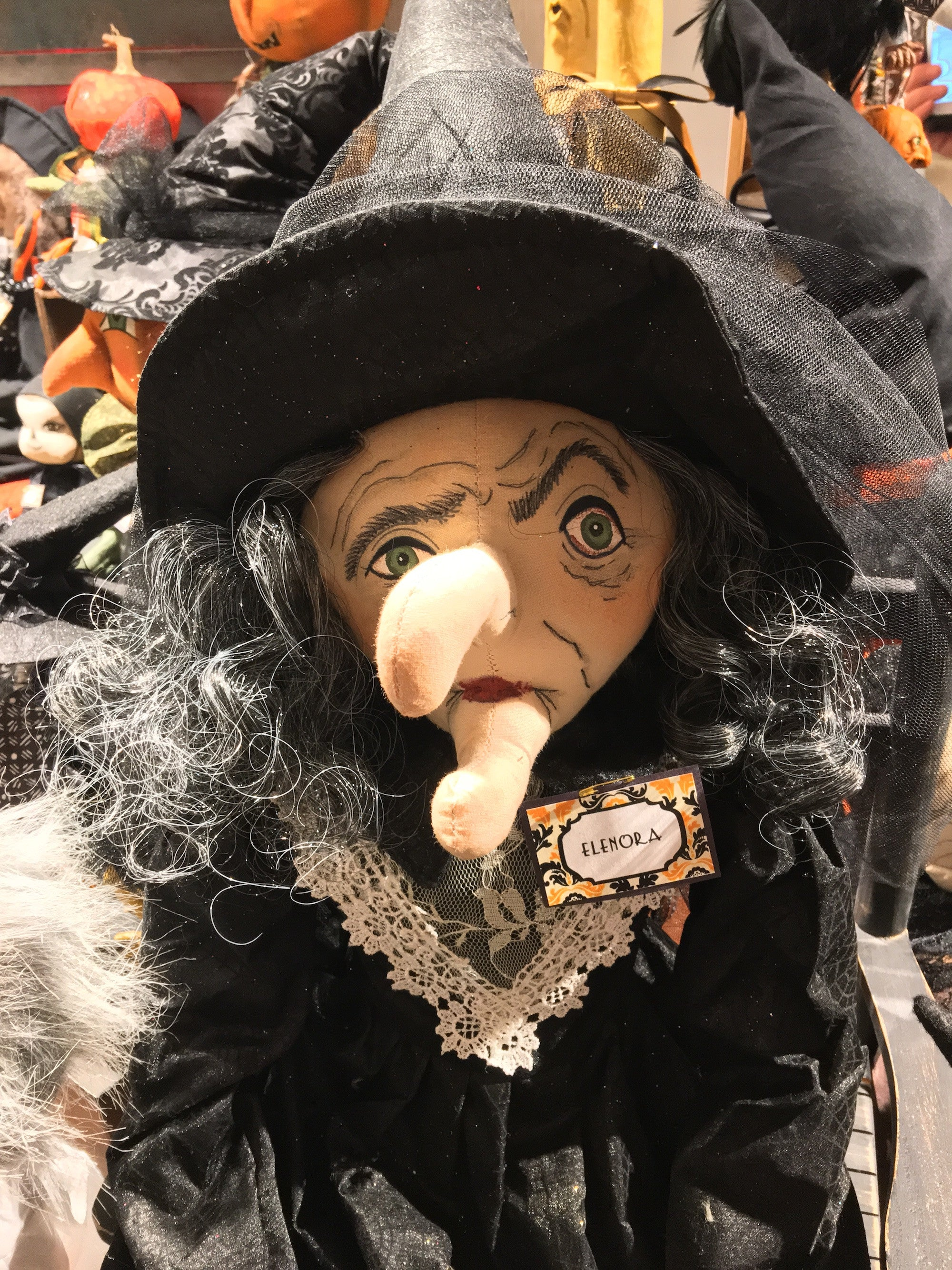 Elenora Witch Doll with Rat by Joe Spencer