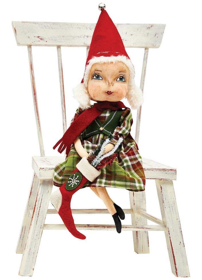 Joe Spencer Ella Santa's Helper Doll - Cloth Christmas Dolls