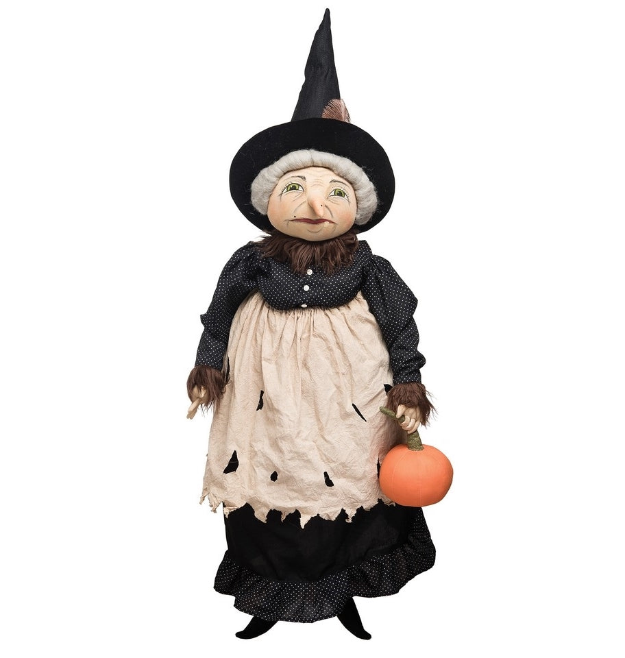 Joe Spencer Eunice Witch, Cloth Halloween Dolls