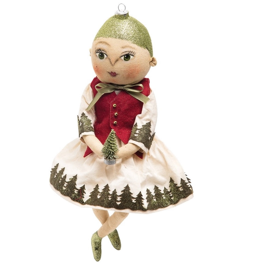 Odette Ornament Head Christmas Doll