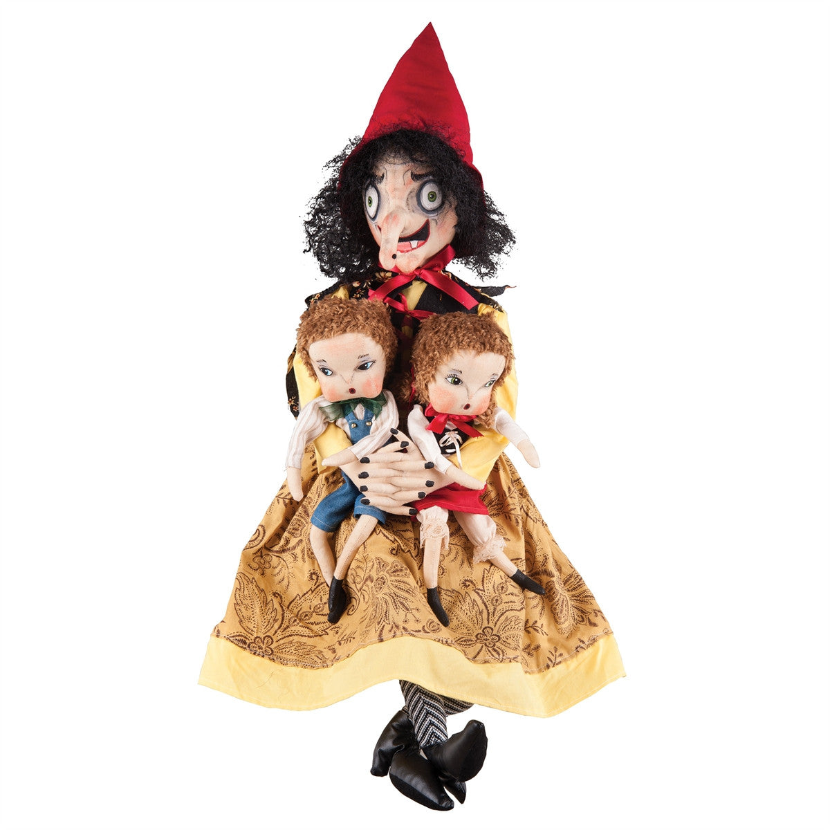 Joe Spencer Sadie Old Hag with Hansel & Gretel Dolls