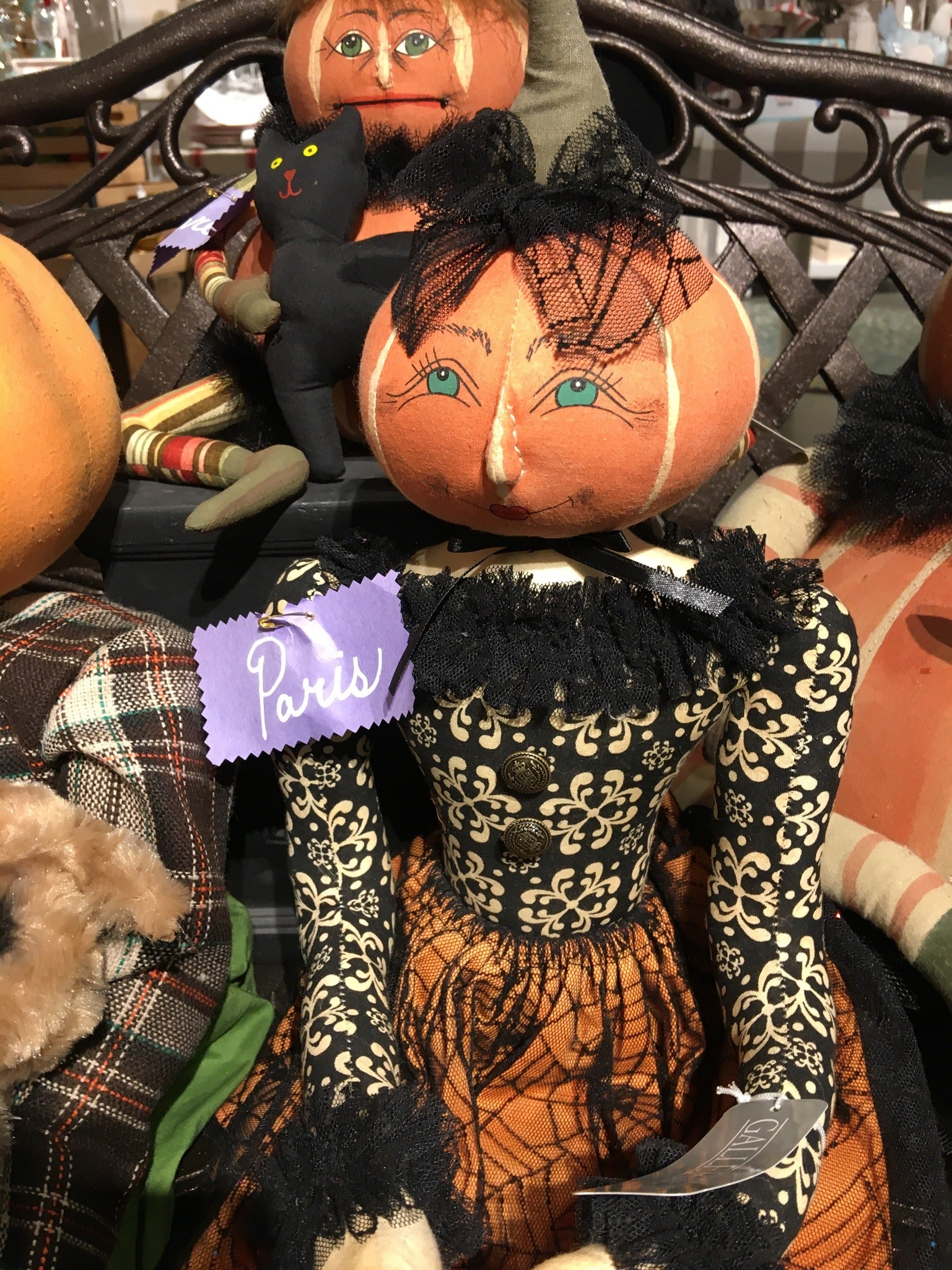 Joe Spencer Paris Pumpkin Doll - Halloween Dolls