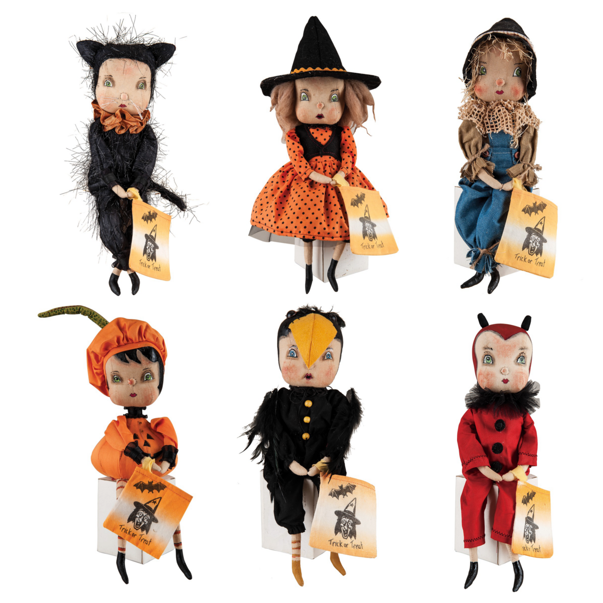 Joe Spencer Trick or Treater Halloween Dolls - Set of 6