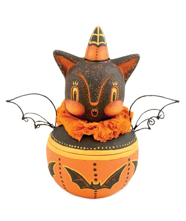 Johanna Parker Howling Bat Candy Container Halloween Bowl