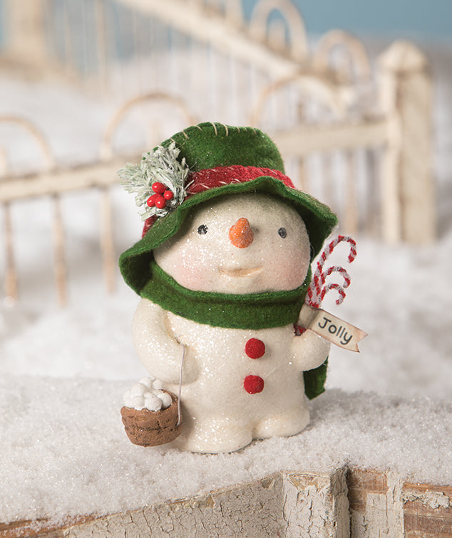 Jolly Tiny Tim Snowman Figurine