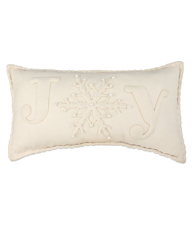 Joy Felt Applique Pillow