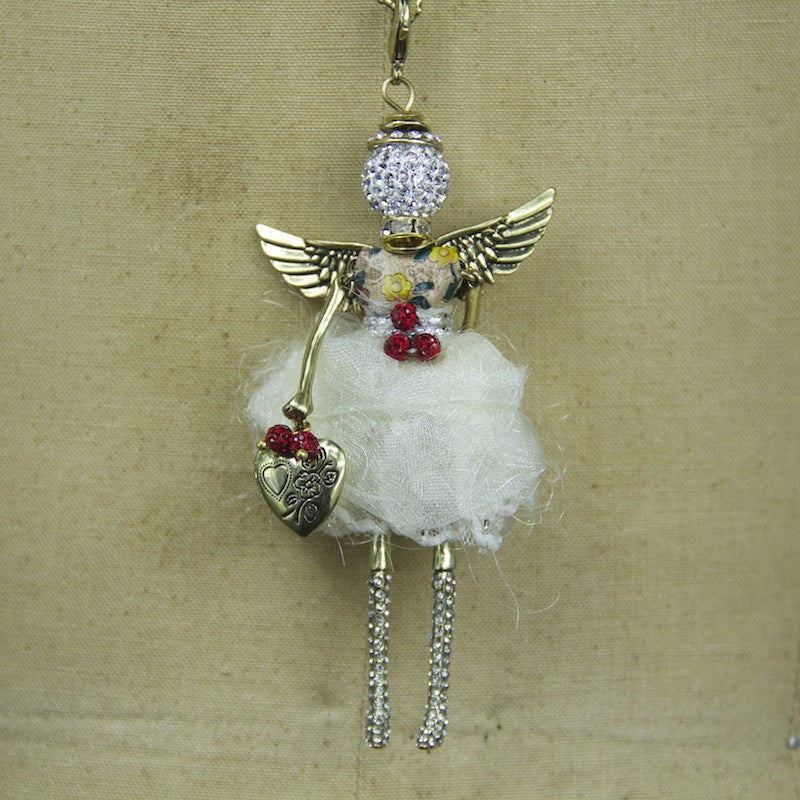 Ruby Angel Necklace