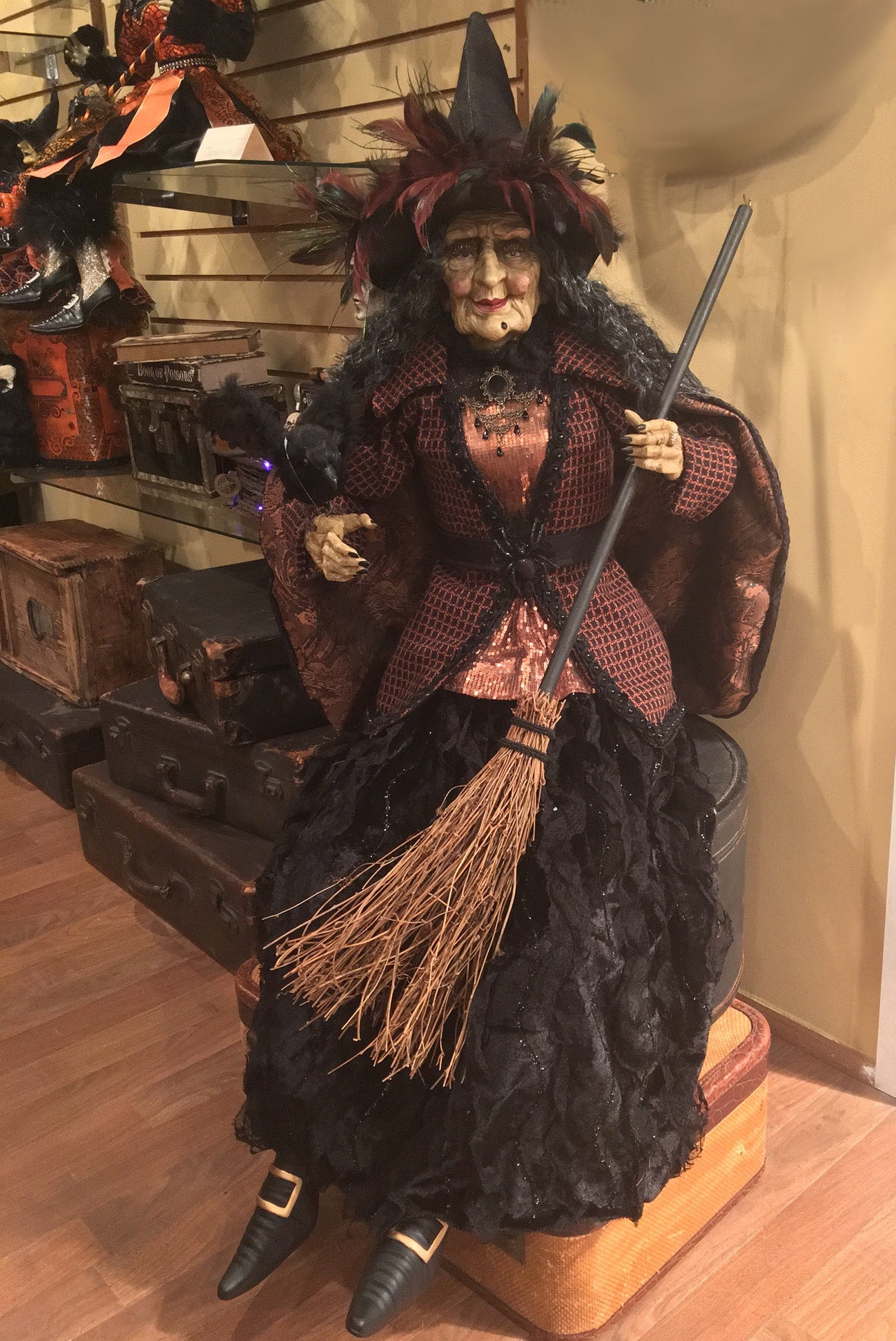 Karen Didion - Alizon Witch Prop  Large Hallowen Figure