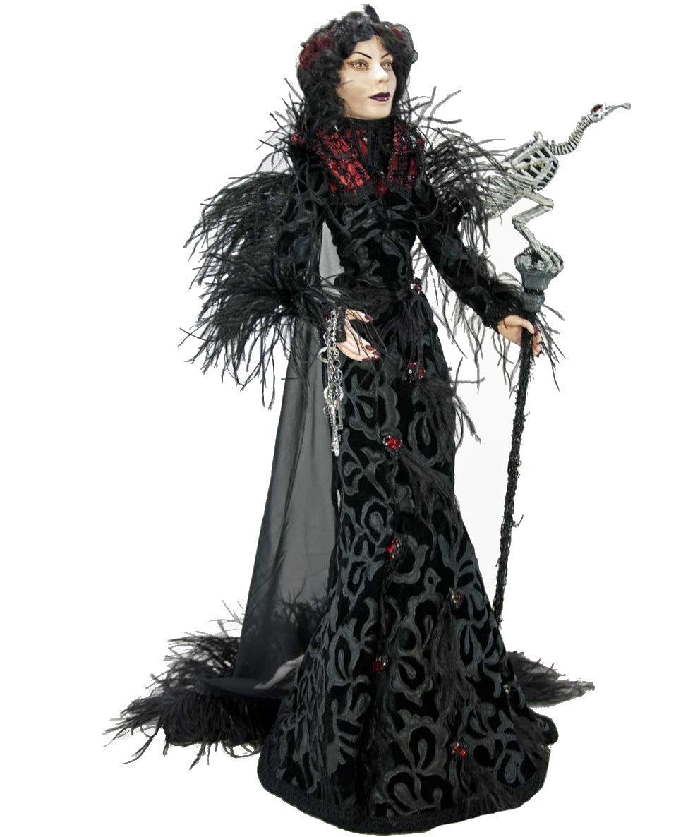"Katherine's Collection Countess with Vulture Skeleton Staff - 32"" Tall"