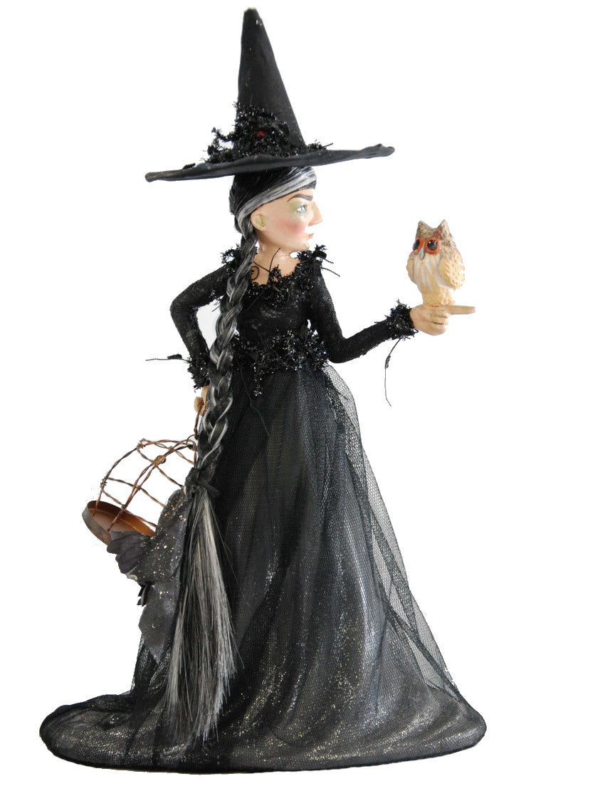 Katherine's Collection Witch with Owl Figurine