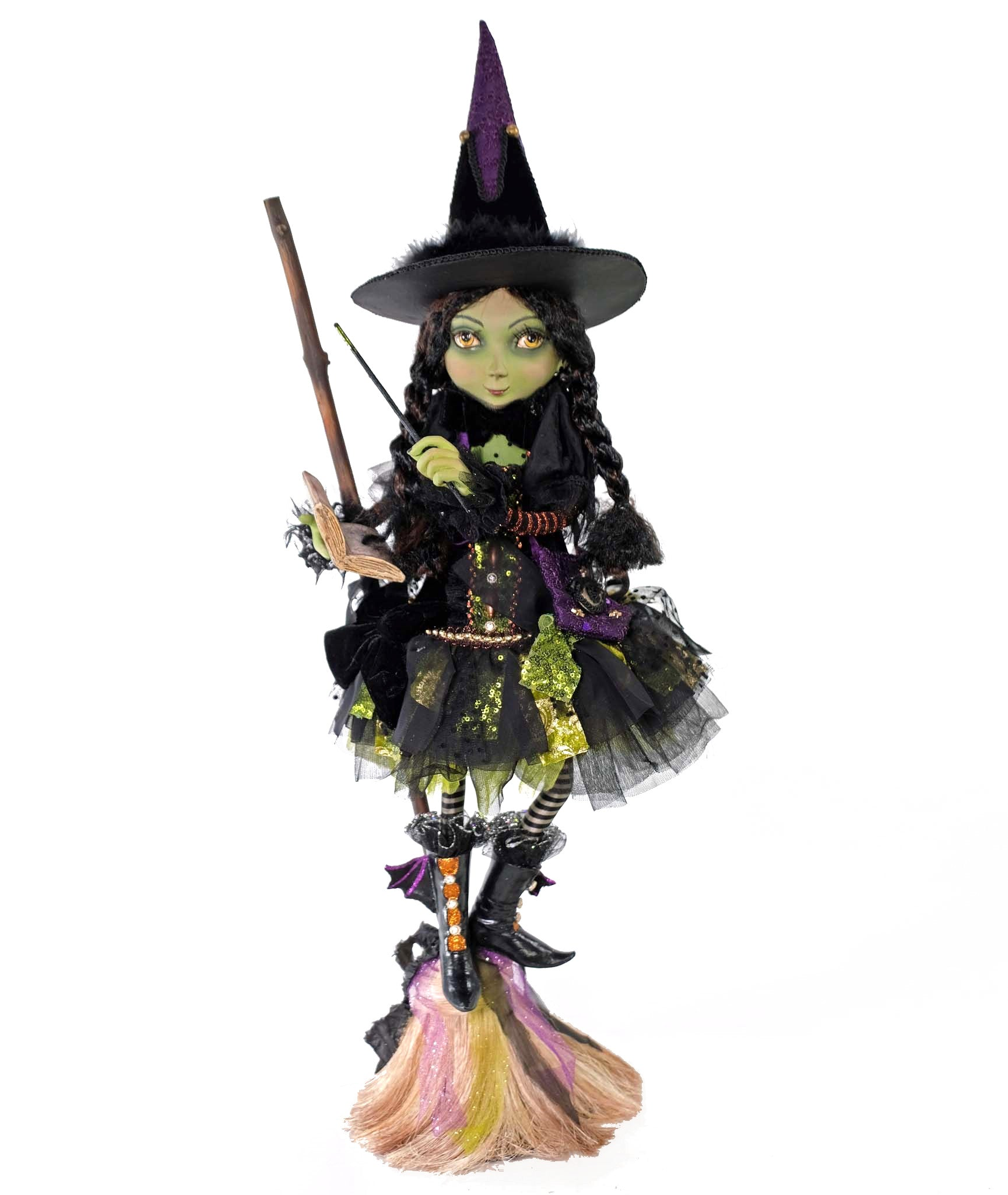 Katherine's Collection Young Witch on Broom