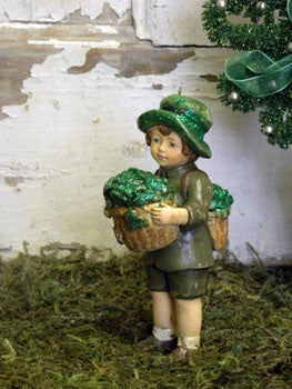 St. Pat's Boy with Shamrock Basket