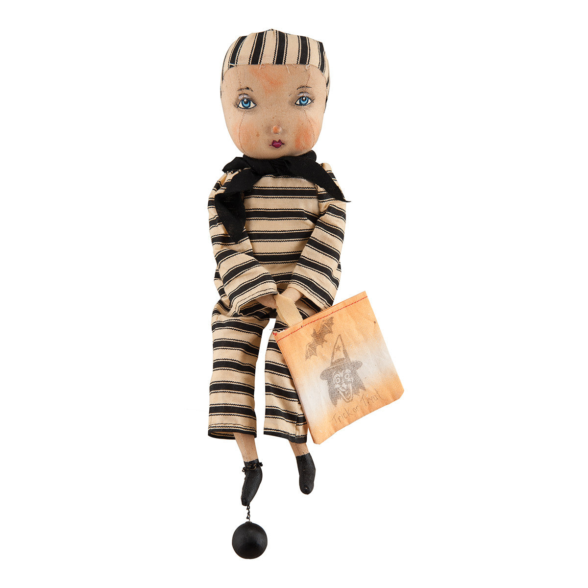 Keaton Prisoner Doll by Joe Spencer - Cloth Halloween Doll