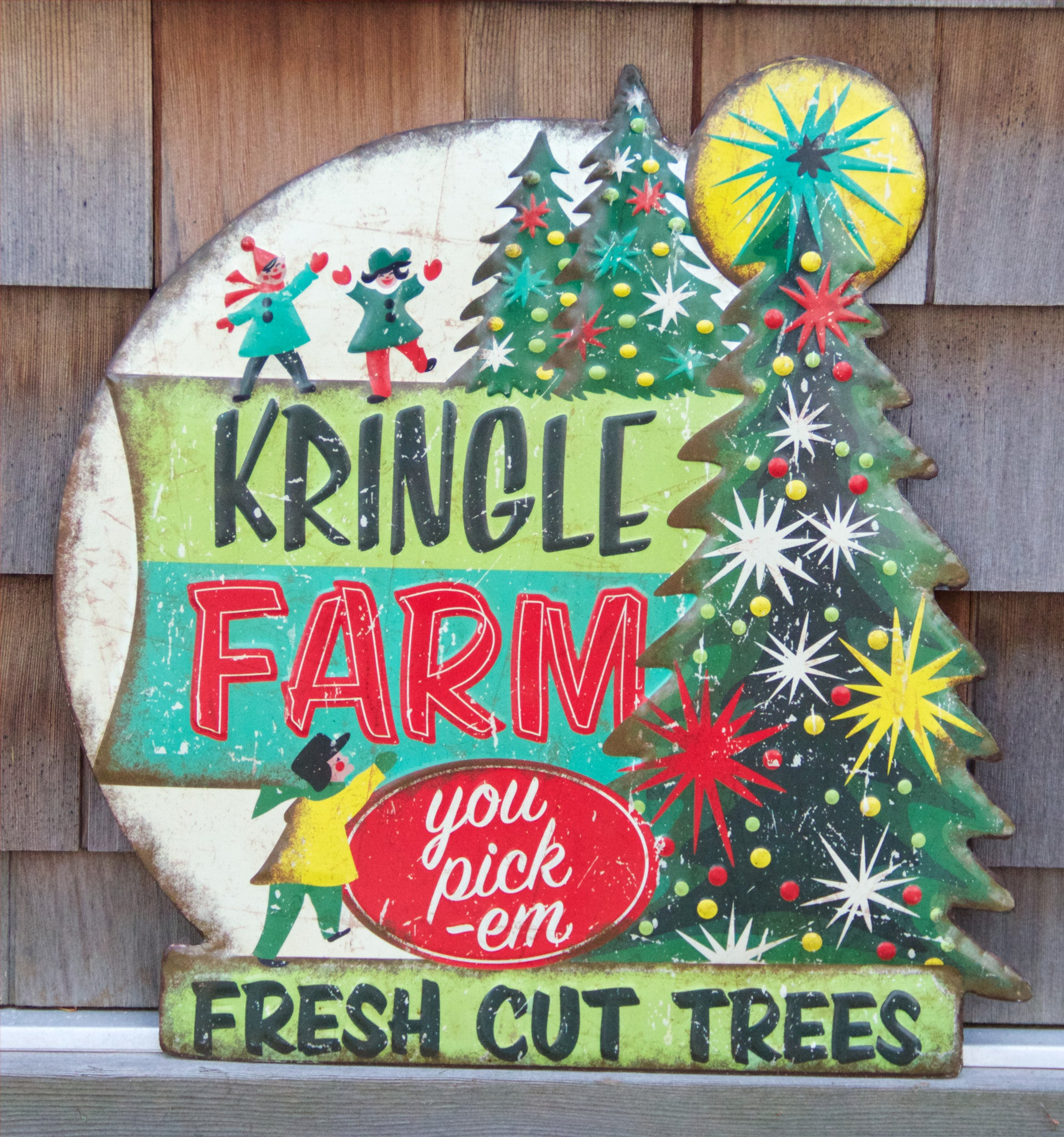 Kringle Tree Farm - Retro Christmas Tin Sign