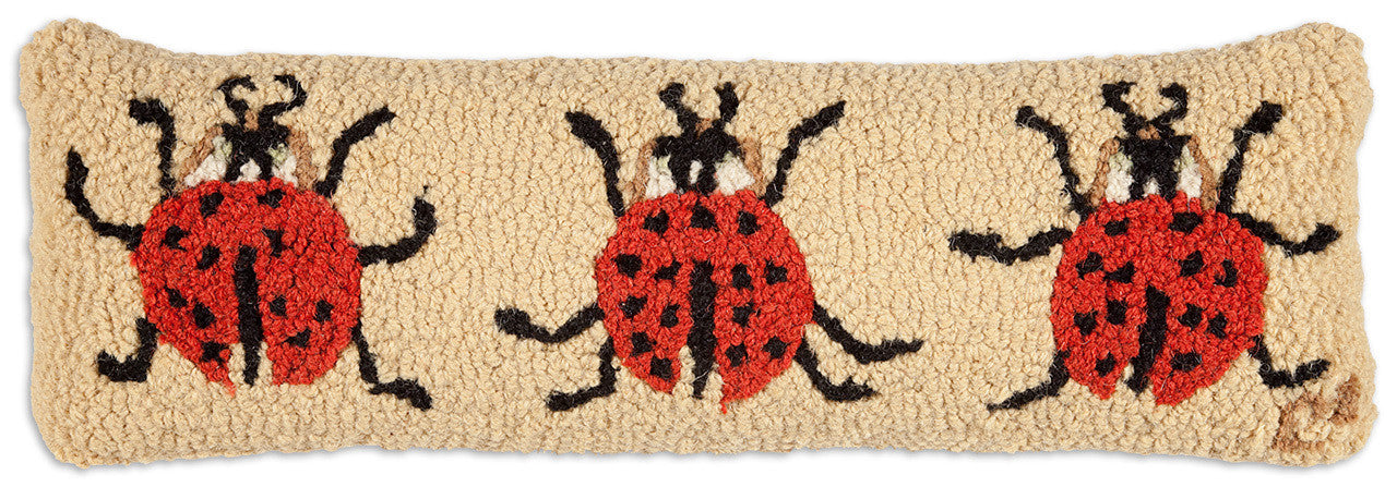 Ladybugs Hooked Pillow