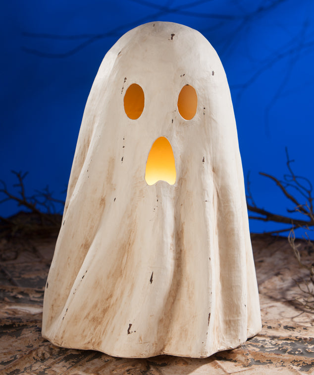 Large Ghost Luminary, Paper Mache - Bethany Lowe 2019