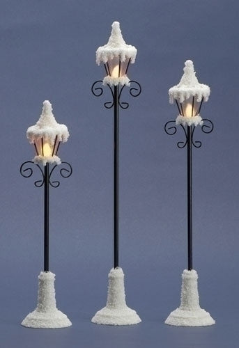 LED Lamp Posts for Christmas Village Scenes & Train Sets