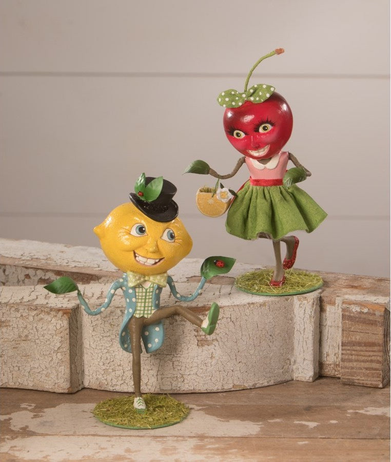 Lemon Head and Ms Cherry Figurines by Bethany Lowe